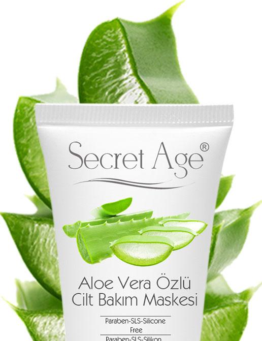Secret Age™ Aloe Vera Özlü Cilt Bakım Maskesi