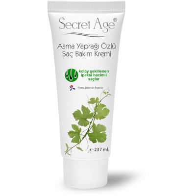 Secret Age™ Asma Yaprağı Özlü Saç Bakım Kremi(237ml)