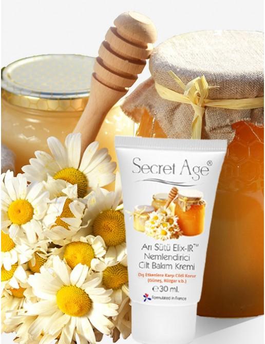 Secret Age™ Arı Sütü ELIX-IR™ Nemlendirici Cilt Bakım Kremi (30ml)